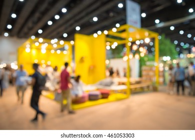 Abstract blurred furniture home decor shopping expo background