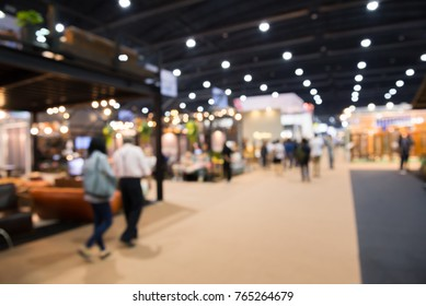 Abstract blurred furniture home decor expo background