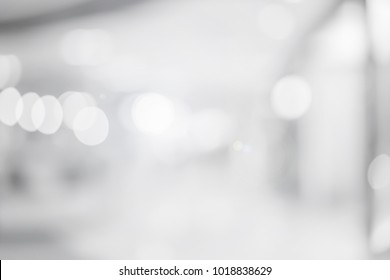 abstract blurred gray color office background with bokeh light for design as banner, presentation concept