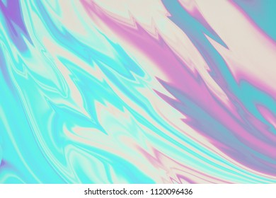 Abstract blurred holographic background, bright color hologram decor
