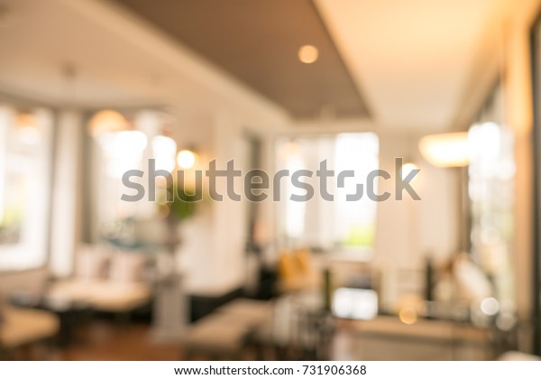 Abstract blurred image of coffee shop use for background