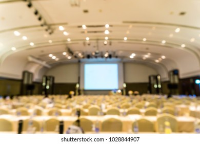 Abstract blurred image of Empty meeting or conference room