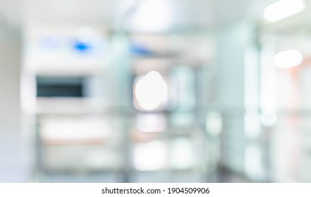 Abstract blurred image of  hallway with bokeh for background usage .