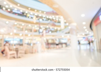 Abstract blurred image of interior shopping mall  with bokeh background
