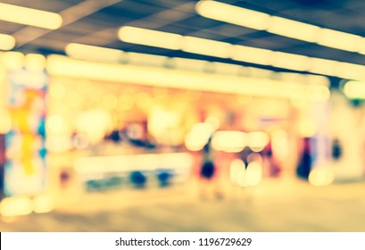 Abstract Blurred image of Shopping mall with bokeh  for background usage