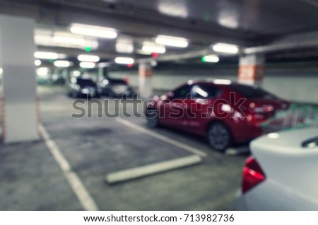 Abstract Blurred Image Under Ground Indoor Stock Photo (Edit