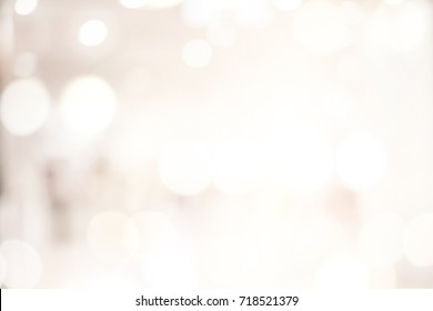 abstract blurred interior department store background in sepia warm light tone