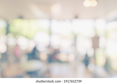 Abstract blurred light table in coffee shop and cafe with bokeh background. product display template.