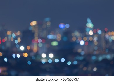 Abstract blurred lights, city downtown night view
