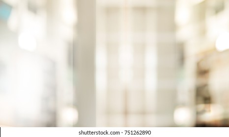 Abstract blurred living room decoration interior for background.