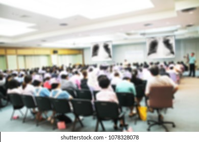 Abstract blurred Medical student,nurse, forum Meeting Conference Training Learning Coaching Concept, Blurred background