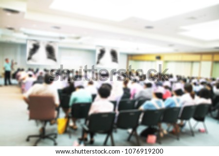 Abstract Blurred Medical Studentnurse Forum Meeting Stock Photo