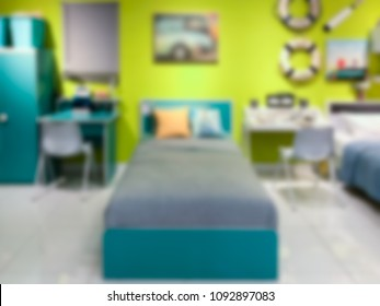 Abstract blurred modern design kid child bedroom