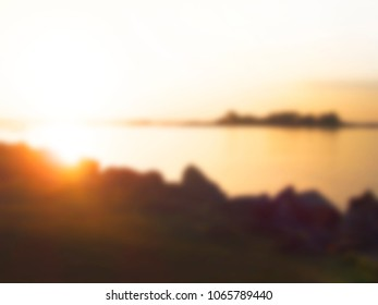 Abstract Blurred nature scene backdrop concept