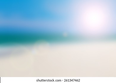 Abstract Blurred nature scene backdrop concept for happy new year 2018, empty text theme, holy spirit, The art of defocus ocean asia sea dying soft pastel color used for montage fresh clean sky beach.