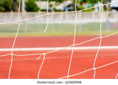 Abstract blurred net or soccer field for background
