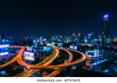 abstract blurred night city background, color tone effect.