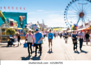 Abstract blurred Oktoberfest activity with people in  Munich City, Germany