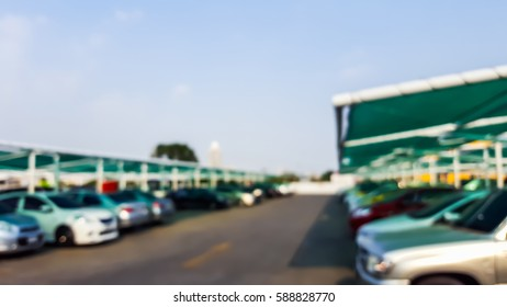 abstract blurred parking car for background