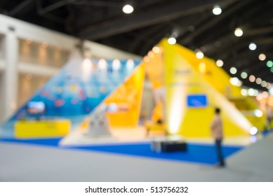 Abstract blurred people in exhibition show expo background usage
