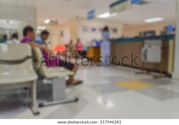 Abstract of blurred people in the hospital
