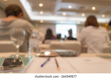 Abstract of blurred people in the meeting room