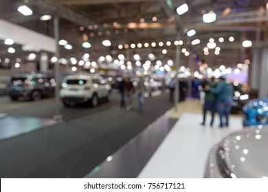 Abstract blurred photo of Auto Show.