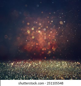 abstract blurred photo of bokeh light burst and textures. multicolored light