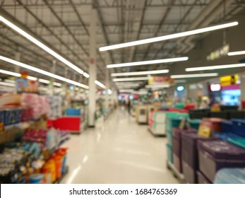 Abstract blurred photo of supermarket