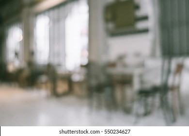 Abstract blurred restaurant lights background.