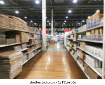Abstract blurred shelf no people in Superstore, Department store or Shopping mall.
