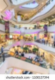 Abstract blurred shopping mall department store interior for background