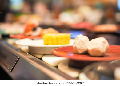 Abstract blurred shubu suki in japanese restaurant.