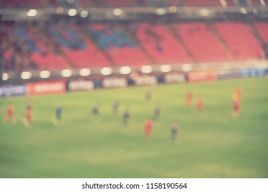abstract blurred soccer field for background - blur concept