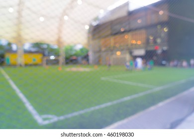 Abstract blurred soccer field for background