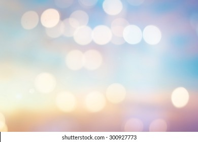 abstract blurred soft sunrise background with circle light for design concept.