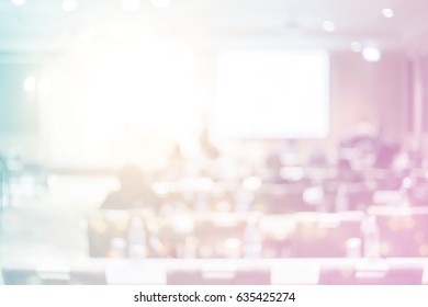 Abstract blurred training mlm insurance business meeting event in modern hotel audience concept for sale conference phone, lifestyle congress, success  business, university senior research seminar