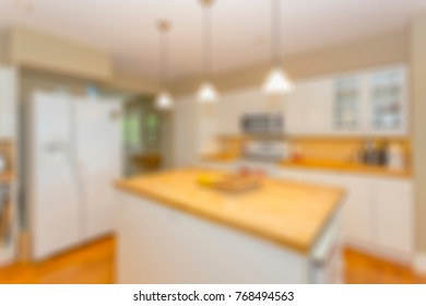 abstract blurred view of a residential interior