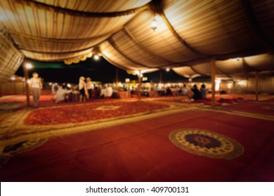 Abstract Blurry background of nomad tent / campsite