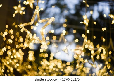 Abstract blurry bokeh background of Christmaslight