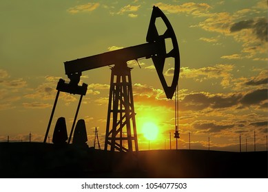 Abstract, blurry, bokeh background, image for the background. The concept of oil production. Pollution of the environment