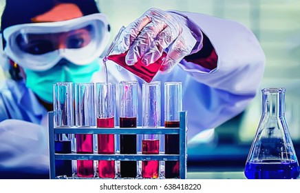 Abstract, blurry, bokeh background,  image for the background. Medicine, pharmacy, public health and the concept of pharmacy and the manufacture, laboratory science.