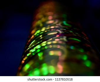 Abstract blurry colourful object isolated unique photograph