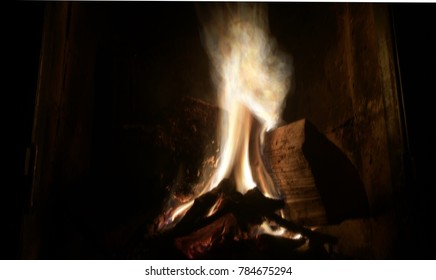 abstract blurry fireplace