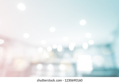 Abstract blurry perspective home light glass reflection room morning background concept - lifestyle sweet food store banner design presentation template design, empty space for product text banner.