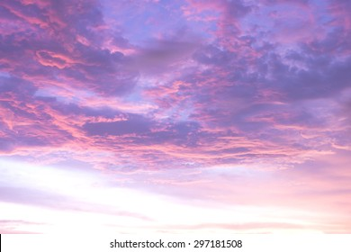 abstract blurry pink and purple sky sunset background