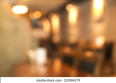 Abstract blurry restaurant