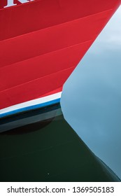abstract boat bow refelection
