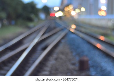 abstract bokeh background in the railway