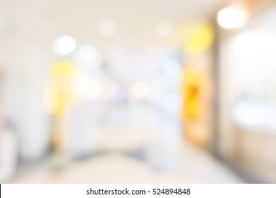 Abstract bokeh and blur beautiful luxury shopping mall and retails store interior for background